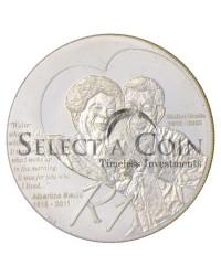 2012 Protea Silver R1 Uncirculated - Walter and Albertina Sisulu - Reverse